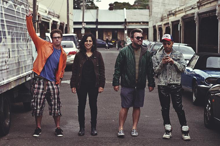Melbourne group portrait: playful