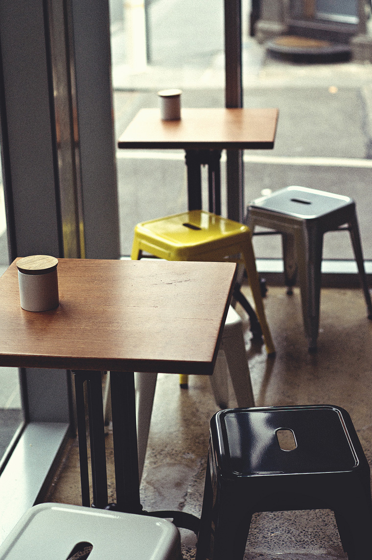 Melbourne coffee photographer: chairs