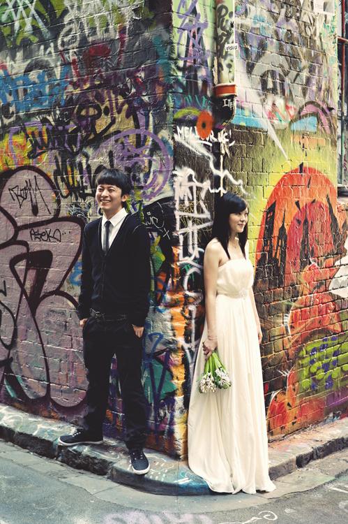 Graffiti Melbourne wedding photography