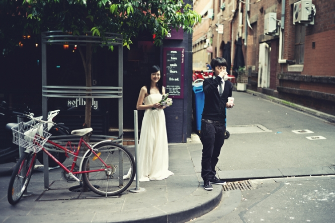 Melbourne coffee engaged couple