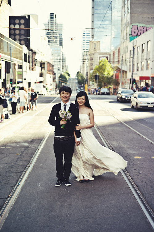 Melbourne CBD couple