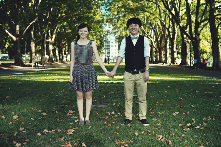 Melbourne CBD engaged couples