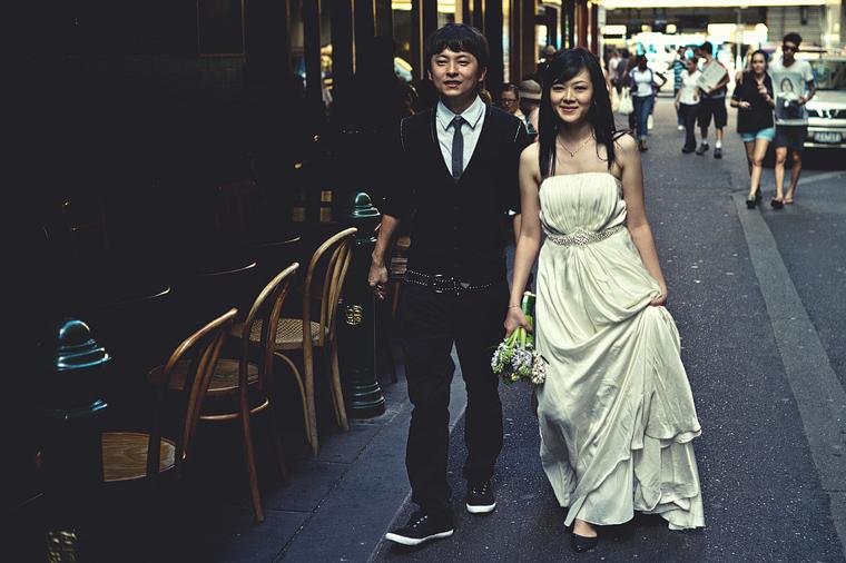 Melbourne CBD couple
