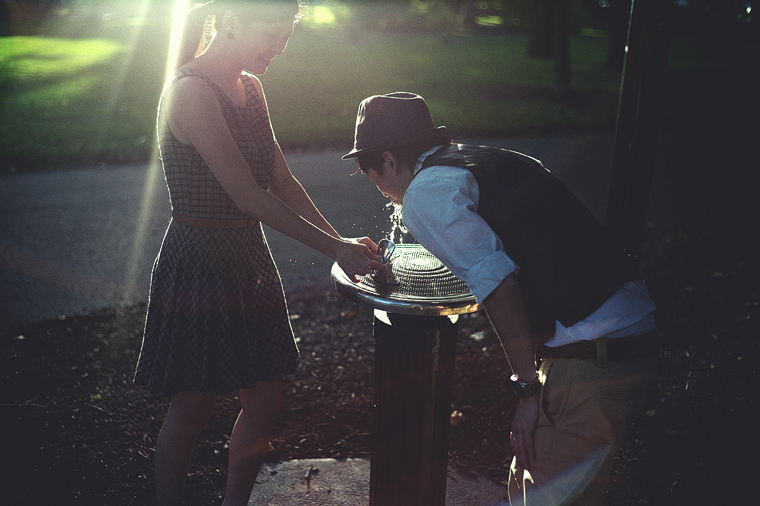 Cool Melbourne engagement photography
