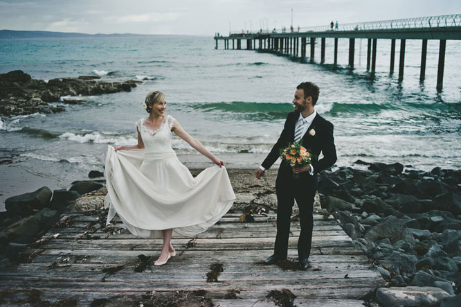 Couple getting married in Lorne Melbourne