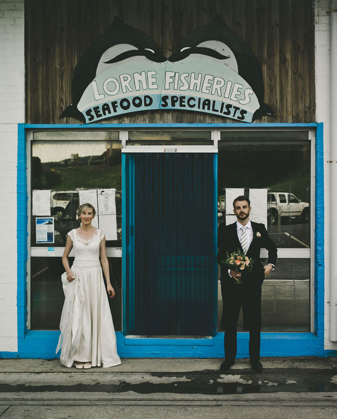 Wedding portrait in Lorne, Melbourne