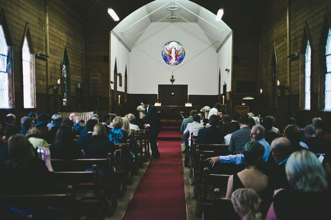 Church wedding in Lorne