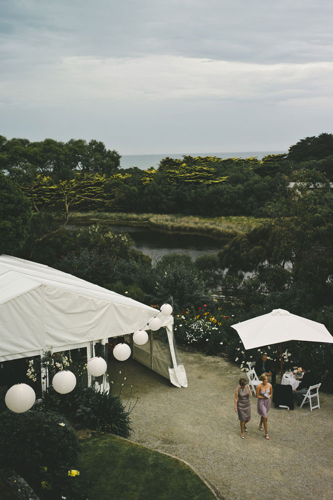 Lake view of a wedding in Lorne