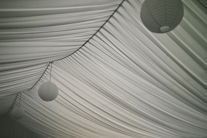 Tent of a Melbourne wedding