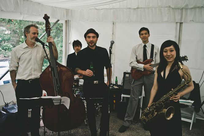 Jazz band at a Lorne wedding