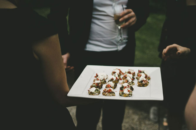 Finger food at Lorne wedding