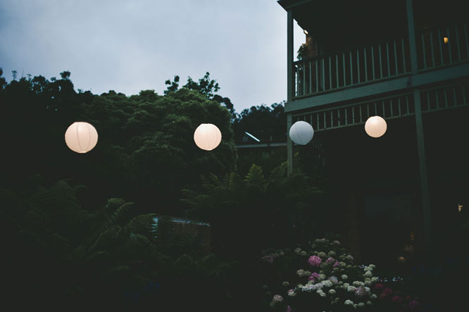 Lanterns in a Lorne wedding