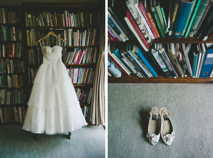 Melbourne wedding dress and shoes