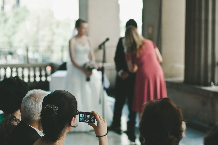 Guest taking photo at a Melbourne wedding