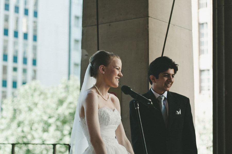 Bride giving speech at a Melbourne wedding