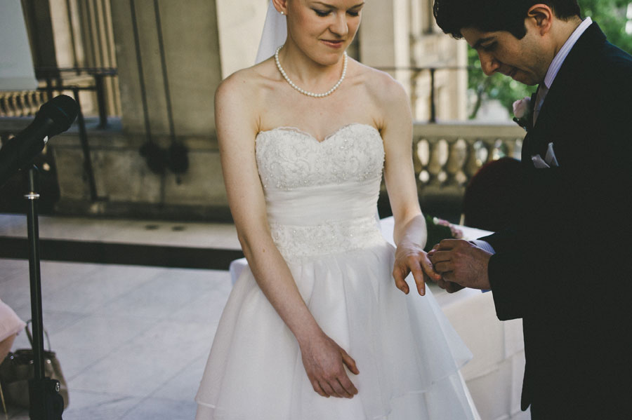 Groom giving the ring at Melbourne city hall