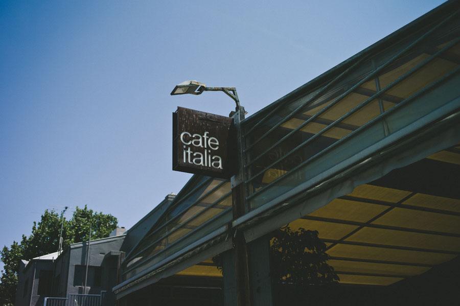 Entrace to cafe italia
