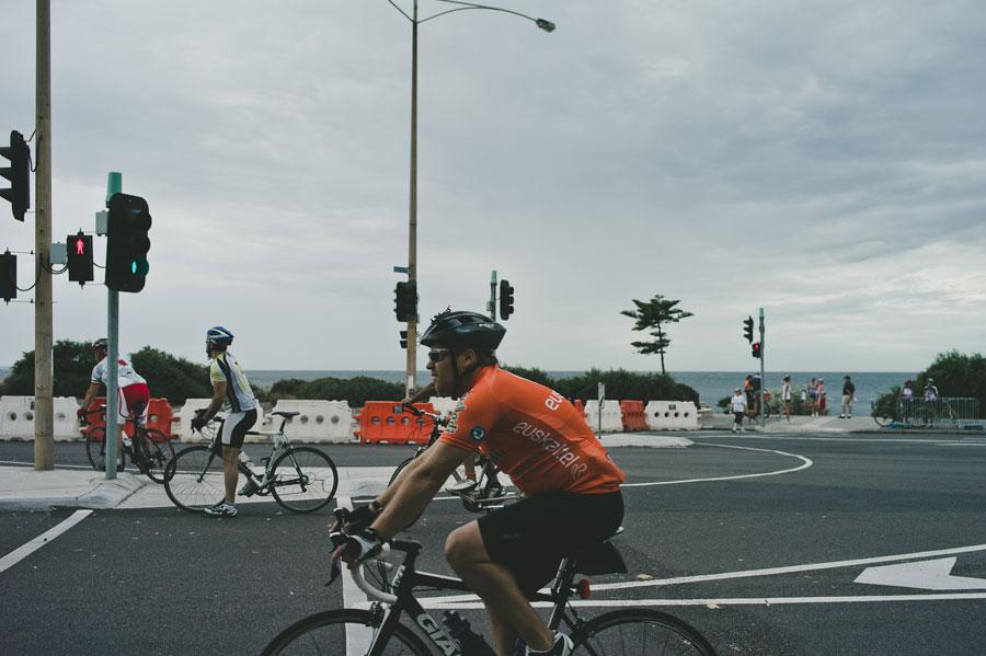 Biker on Melbourne wedding day