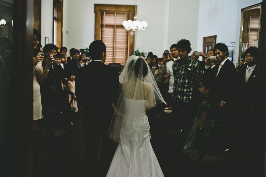 Entrance of Japanese wedding in Melbourne