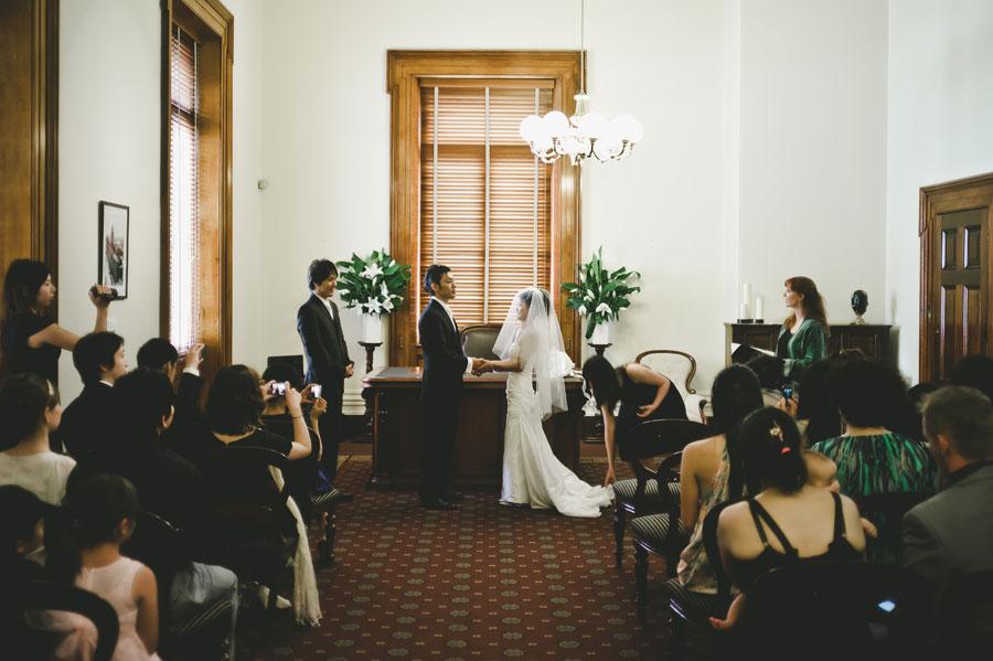 Melbourne wedding ceremony of Japanese couple