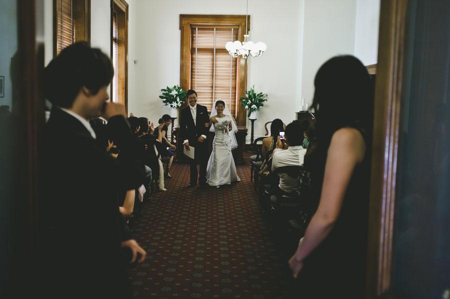 Japanese couple exits Melbourne wedding