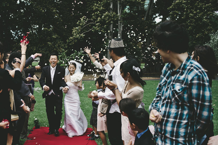 Japanese Melbourne wedding red carpet Treasury Garden