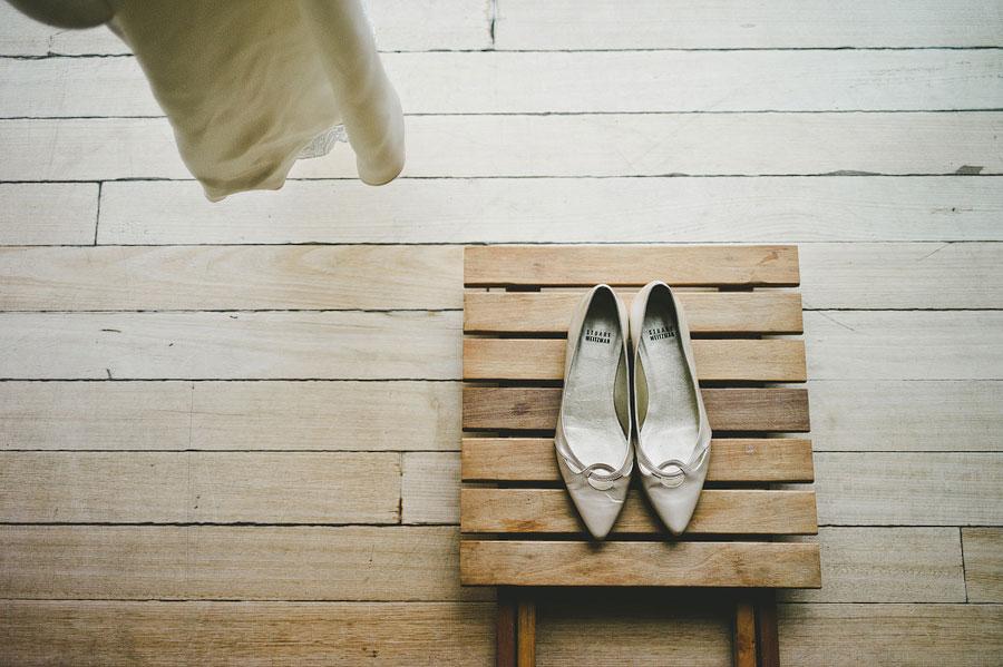 Lorne wedding bride's shoes