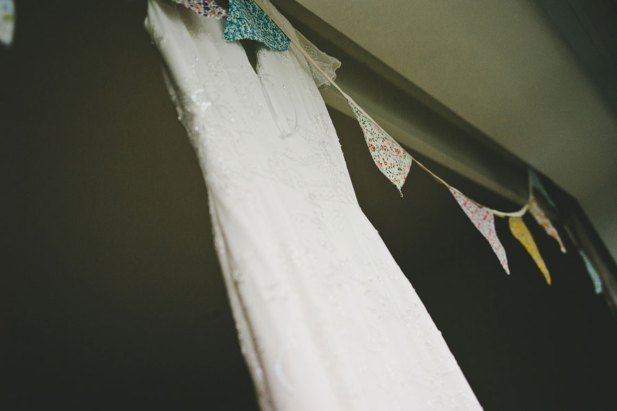 Lorne wedding dress with decorating flags