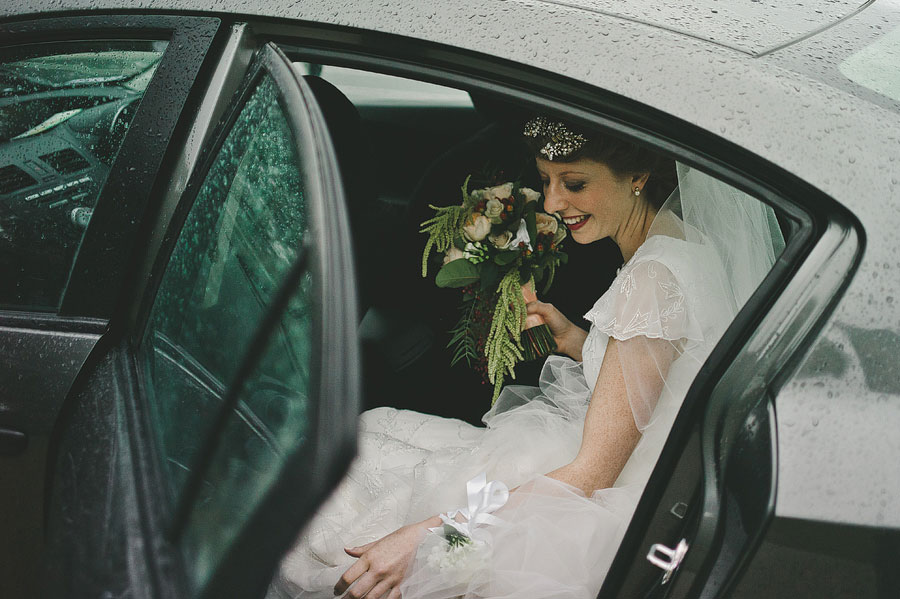 Lorne wedding - bride getting out of the car
