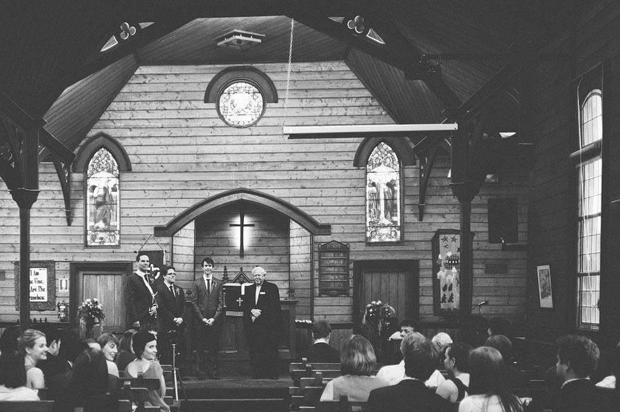 St Cuthberts Church - groom waiting at altar