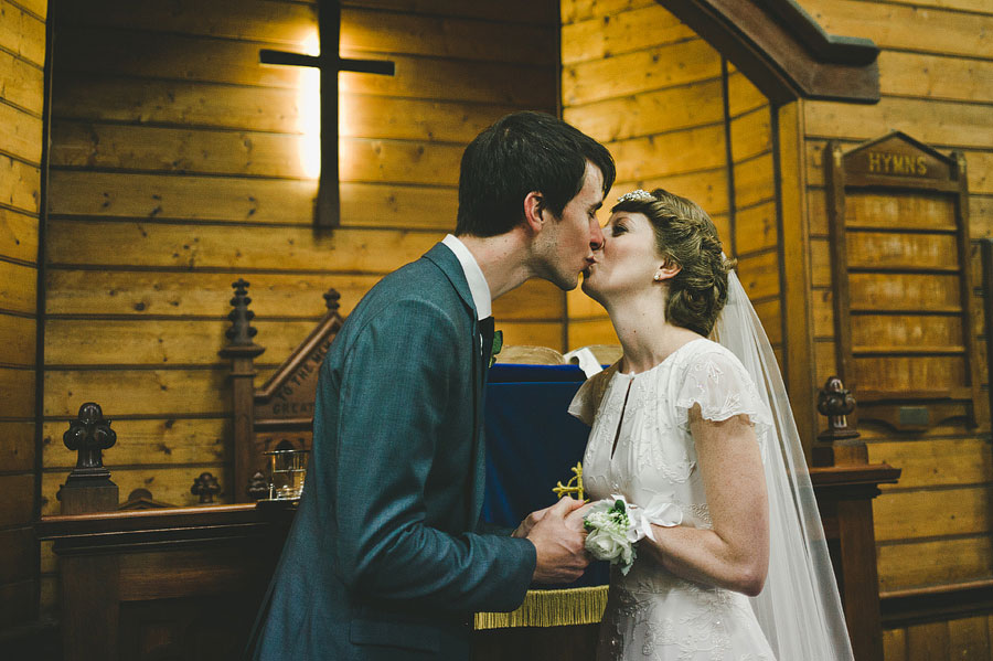 The wedding kiss - St Cuthberts Church, Lorne