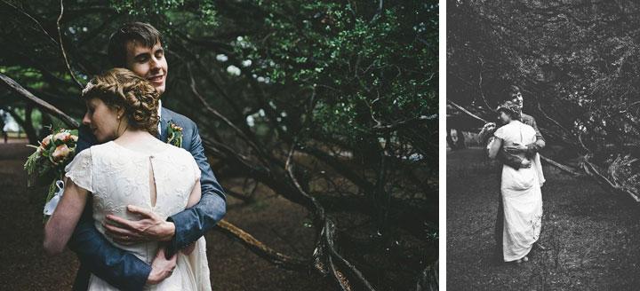 Wedding couple hugging at Lorne, Melbourne