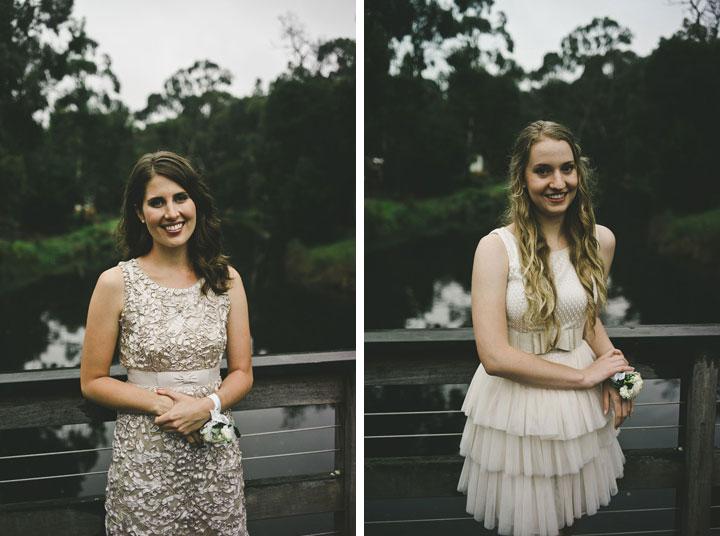 Bridesmaids outside Babalu bar - Lorne