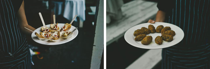 Finger food at Babalu bar - Lorne wedding