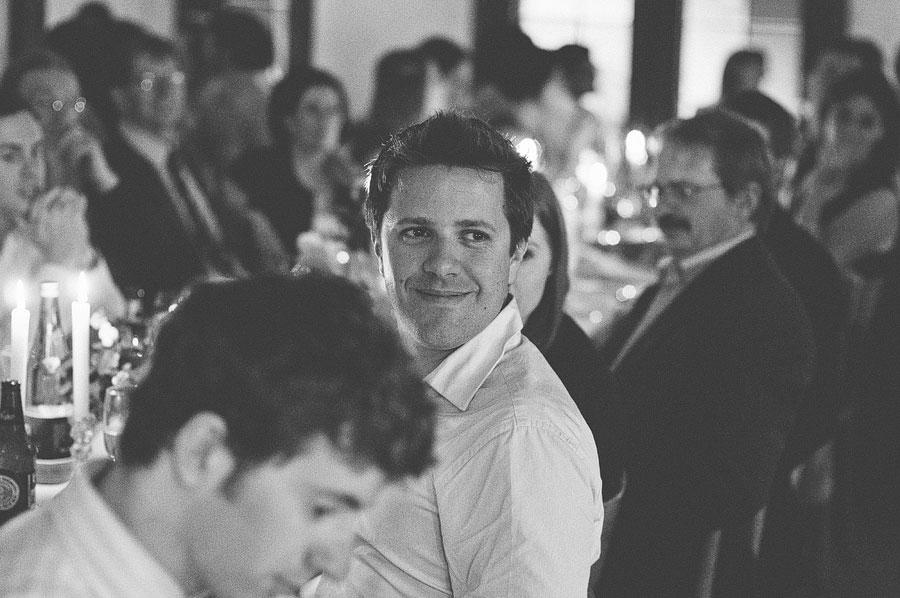 Guest enjoying wedding speech - Babalu bar - Lorne