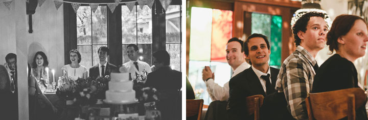 Guests laugh at Babalu bar - Lorne wedding
