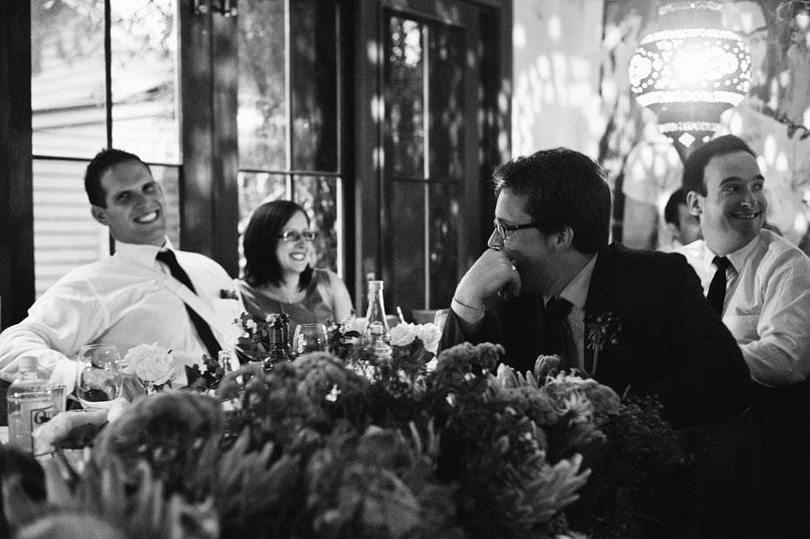 Best men laughing at tables - Babalu bar - Lorne