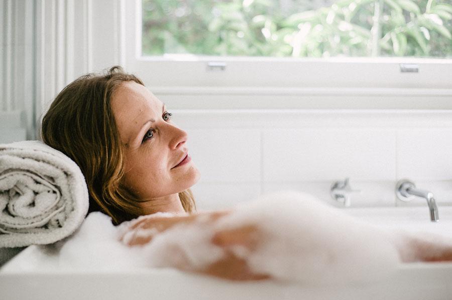 Bathtub portrait peaceful