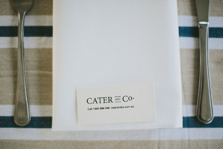 Cater and Co business card