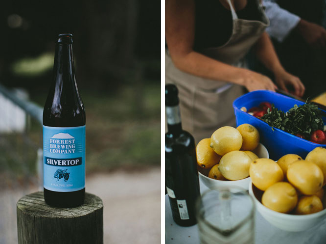 Lorne beer and lemon catering photo