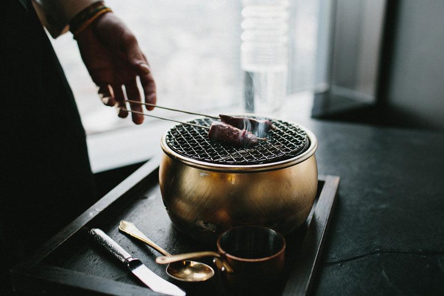 Korean BBQ Blackmore Wagyu at Vue De Monde Melbourne