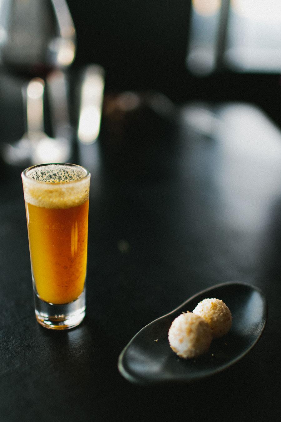 Passionfruit, licorice, coconut at Vue De Monde Melbourne