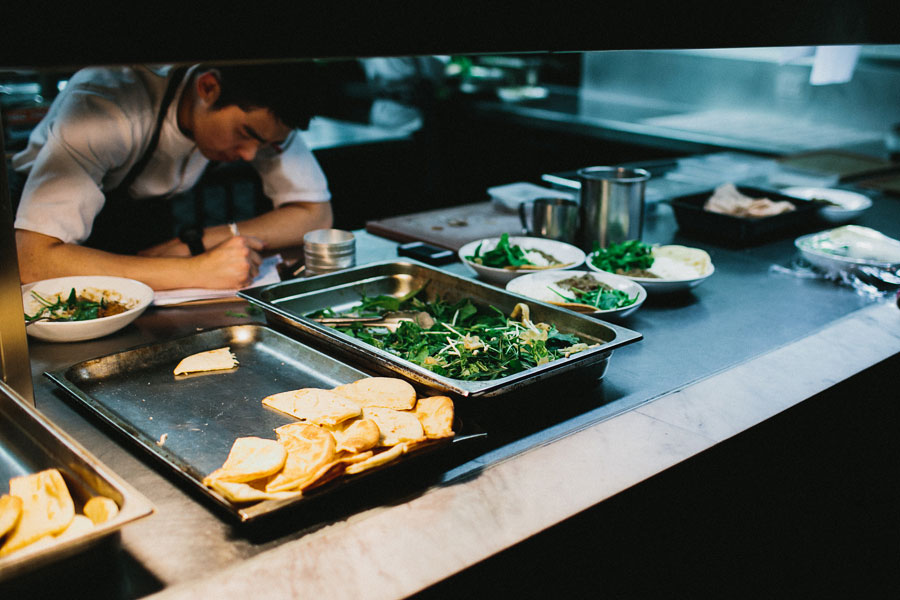 Chef taking note at Vue De Monde Melbourne