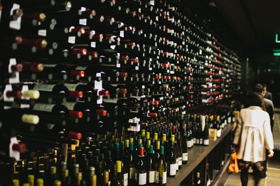 Wine cellar at Vue De Monde Melbourne