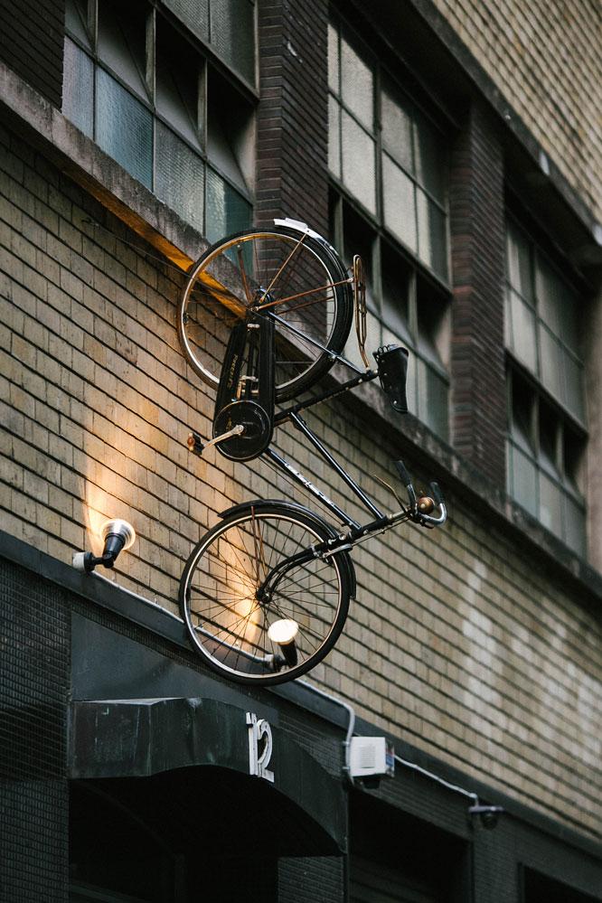 Melbourne bike on sign