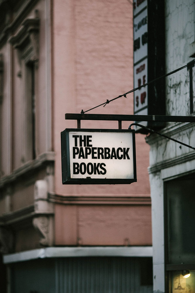 Paperback book shop Melbourne
