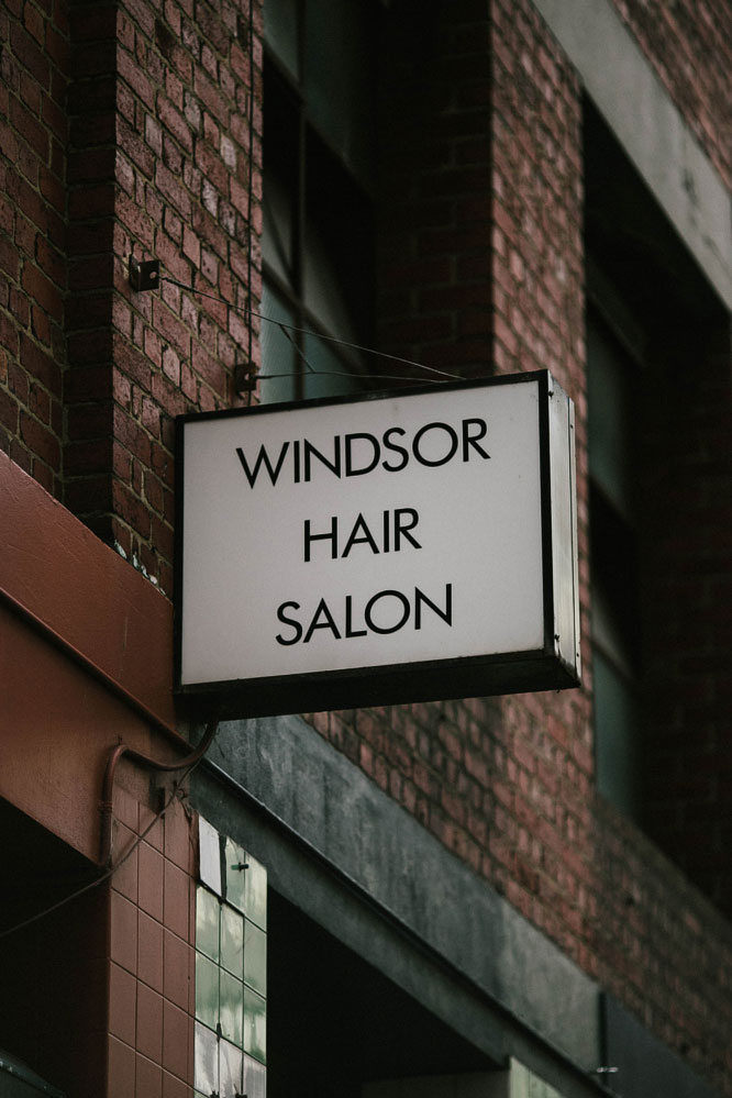 windsor hair saloon sign Melbourne