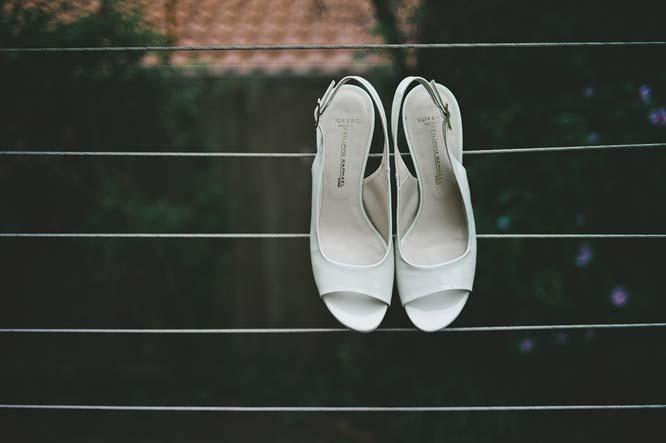Wedding shoes of Melbourne bride