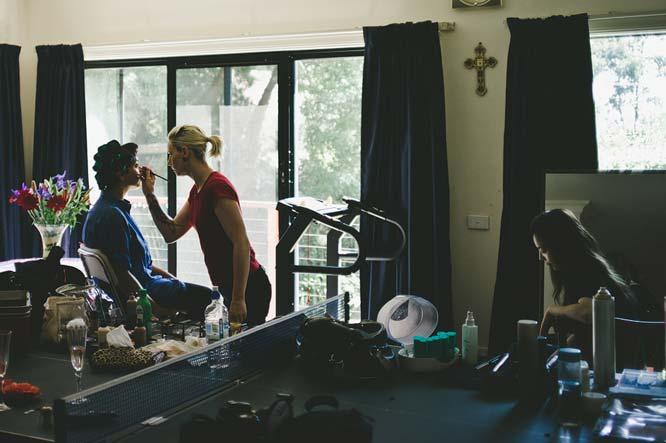 Melbourne make up artist and bride