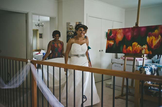 Bride leaving room for Melbourne Egyptian wedding